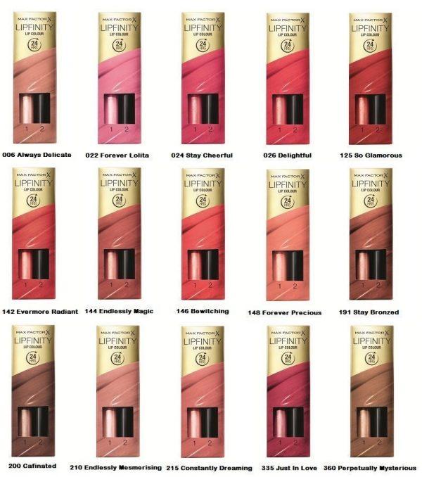 Max Factor Lipfinity ColourLipstick 24 Hrs